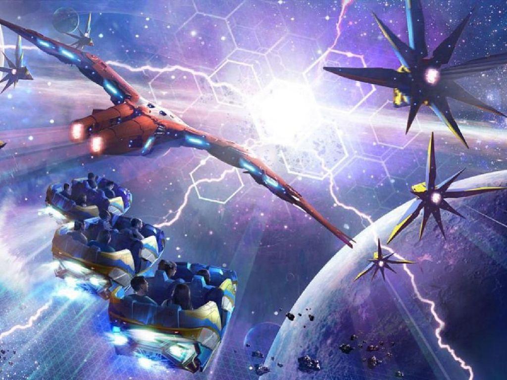 Guardians Of the Galaxy Hadir di Dunia Nyata Lewat Roller Coaster