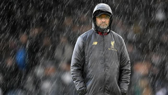 Juergen Klopp pede kalahkan MU di Old Trafford. (Michael Regan/Getty Images)