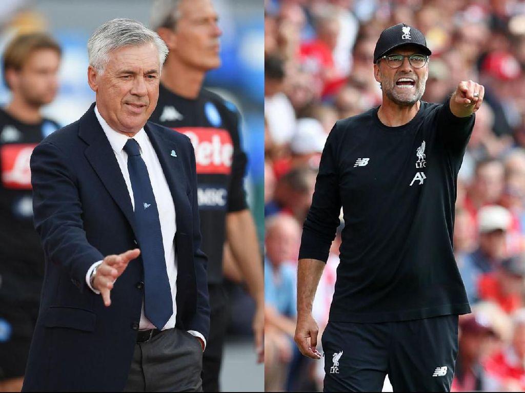 Napoli Vs Liverpool: Adu Taktik Ancelotti dengan Klopp Masih Imbang