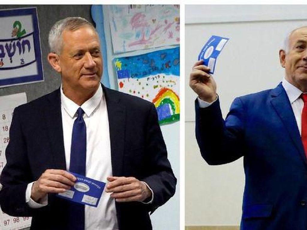 Pemilu Israel Dimulai, Netanyahu Bersaing Ketat dengan Eks Panglima Militer