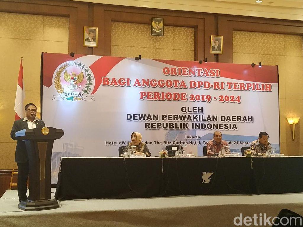 Buka Orientasi DPD 2019-2024, OSO: Indonesia Makmur Kalau Daerah Maju