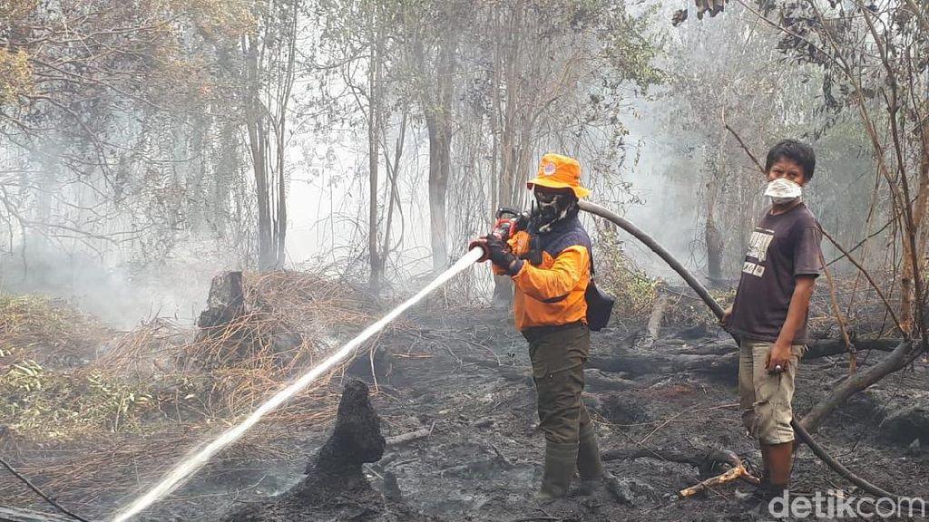 Upaya Petugas Gabungan Berjibaku Padamkan Api Karhutla