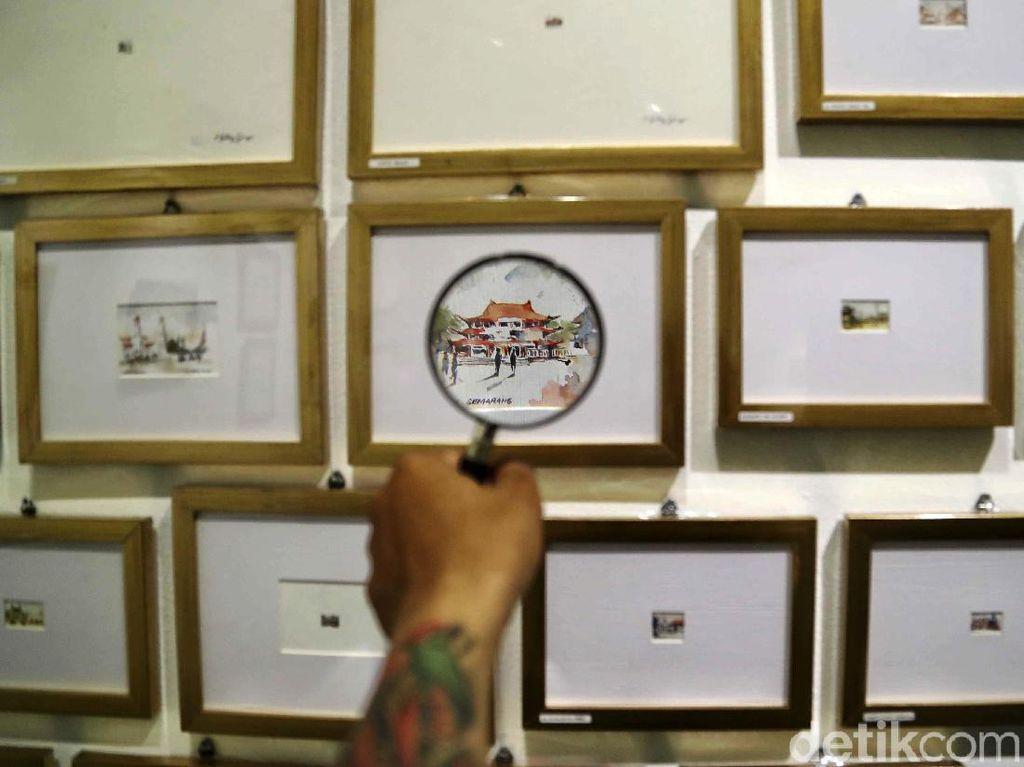 Mejeng di Jakarta, Ratusan Sketsa Ini Harus Dilihat Pakai Kaca Pembesar