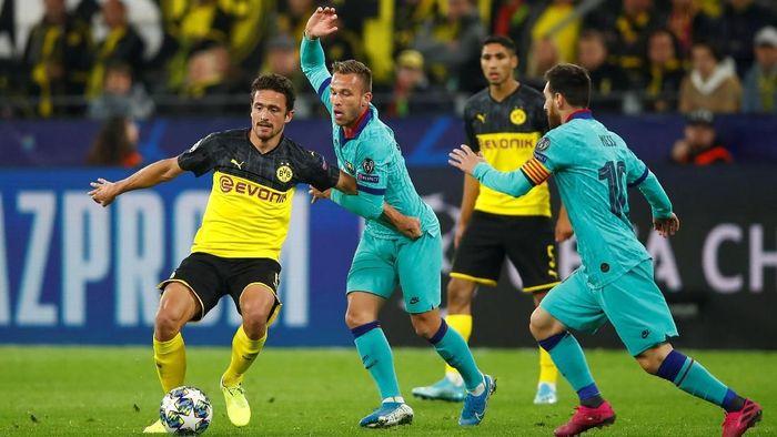Borussia Dortmund vs Barcelona imbang tanpa gol. (Foto: Wolfgang Rattay/Reuters)