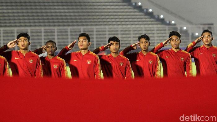 Indonesia menghadapi Brunei Darussalam di lanjutan Kualifikasi Piala Asia U-16 2020. (Foto: Rifkianto Nugroho/Detikcom)