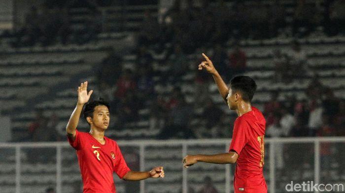 Timnas Indonesia U-16 menang telak 15-1 atas Kepulauan Mariana Utara di Kualifikasi Piala Asia U-16 2020. (Foto: Rifkianto Nugroho)