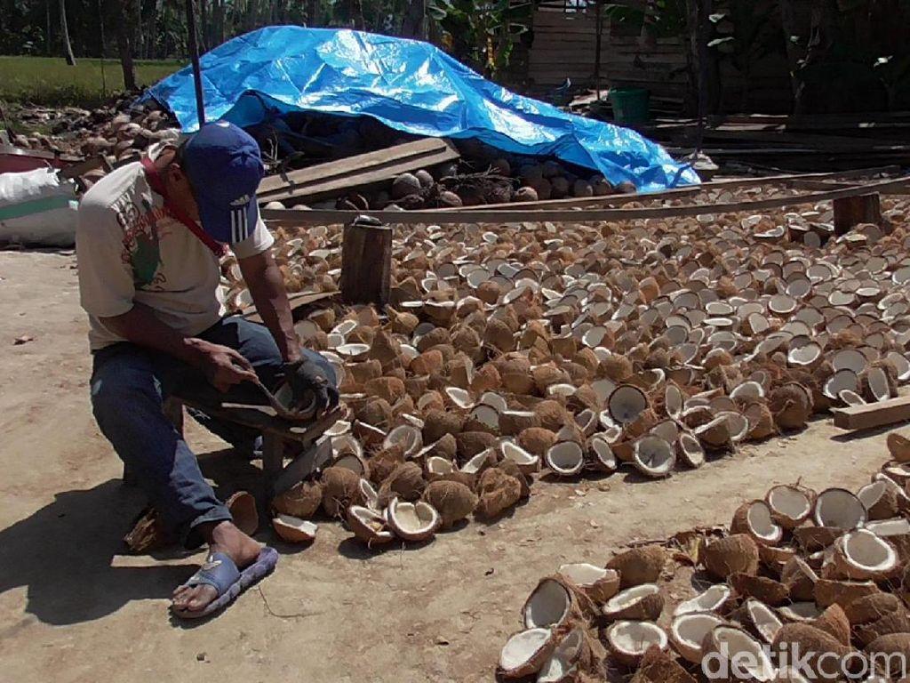 Kisah Inspiratif Pria Tunanetra di Polman yang Jadi Pengupas Buah Kelapa