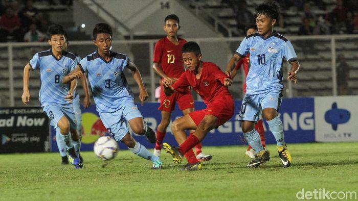 Timnas Indonesia U-16 menang besar 15-1 atas Kepulauan Mariana Utara. (Foto: Rifkianto Nugroho/detikcom)