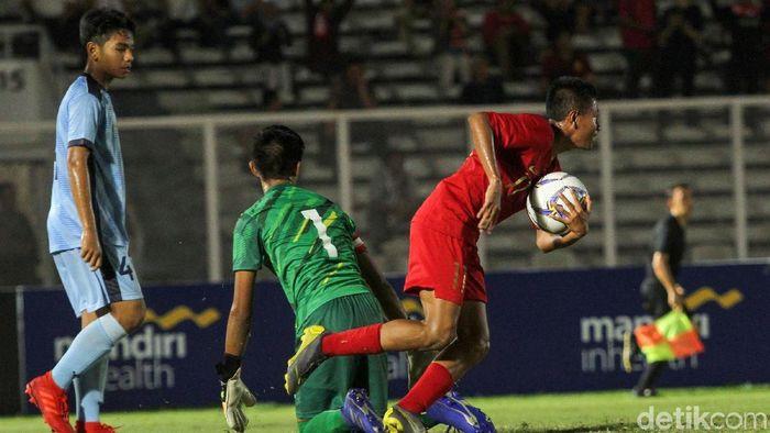 Timnas Indonesia U-16 menang 15-1 atas Kepulauan Mariana Utara di Kualifikasi Piala Asia U-16 2020. (Foto: Rifkianto Nugroho)