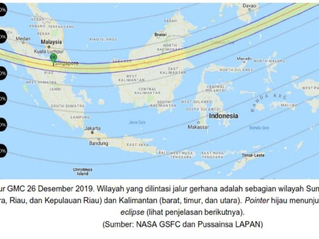 Catat! Waktu dan Lokasi Gerhana Matahari Cincin di Indonesia