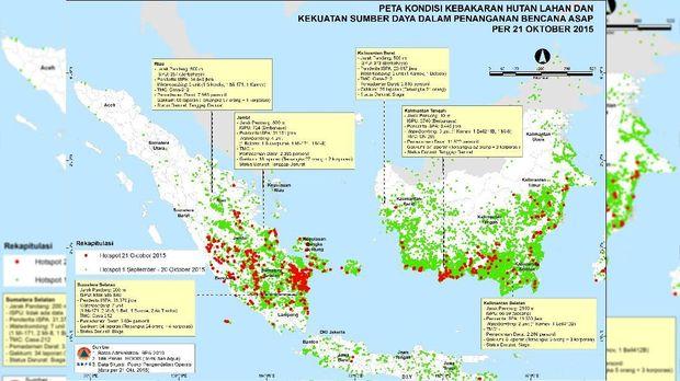 Membandingkan Karhutla di Indonesia Pada 2015 dan 2019