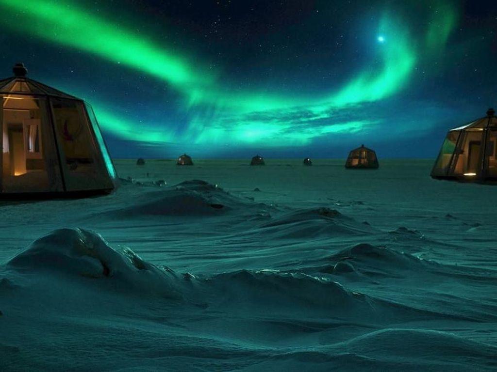 Langka Nih! Bisa Nginap di Igloo, Nikmati Aurora Kutub Utara
