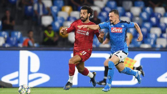 Napoli vs Liverpool tanpa gol di babak pertama. (Foto: Francesco Pecoraro/Getty Images)