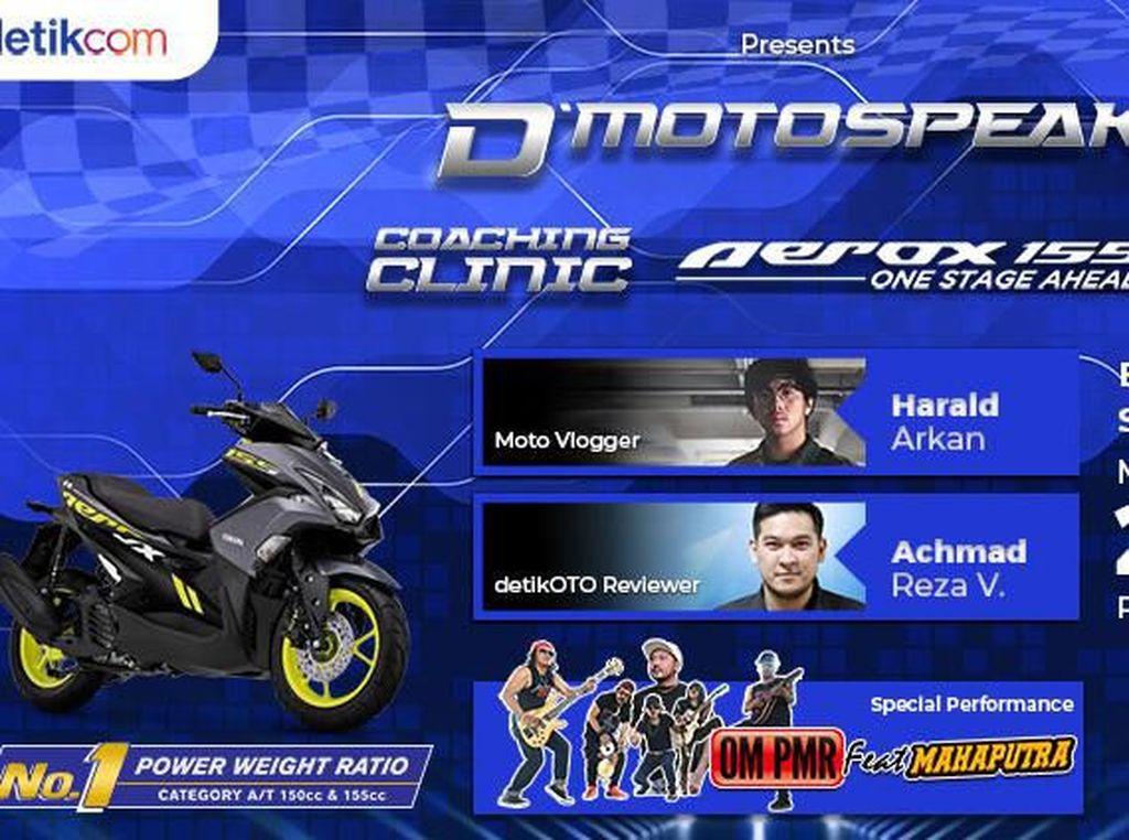 Warga Bekasi, Yuk Ikuti Coaching Clinic Yamaha Aerox