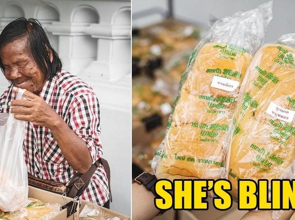 Karena Buta Roti Dagangan Nenek Ini Selalu Dicuri Orang