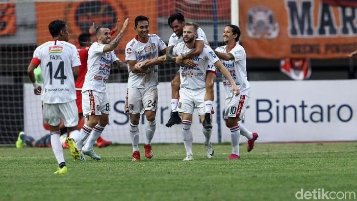 Bali United tak terkejar di klasemen Liga 1 2019. (Foto: Rifkianto Nugroho/detikcom)
