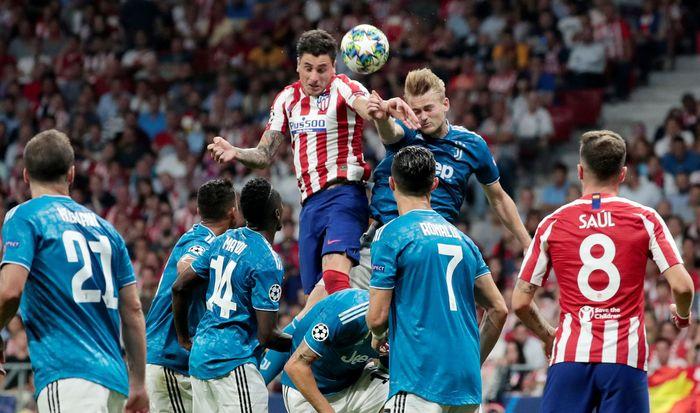 Juventus gagal meraih poin penuh di markas Atletico Madrid. REUTERS/Susana Vera.