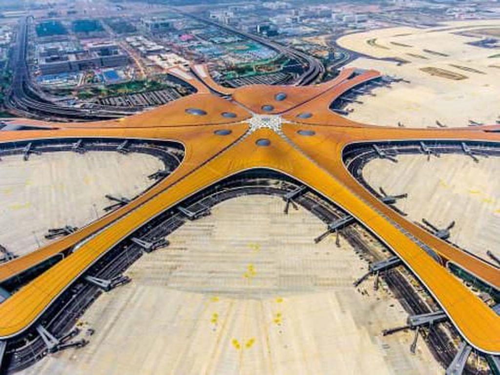 Foto: Penampakan Bandara Bintang Laut Raksasa di China