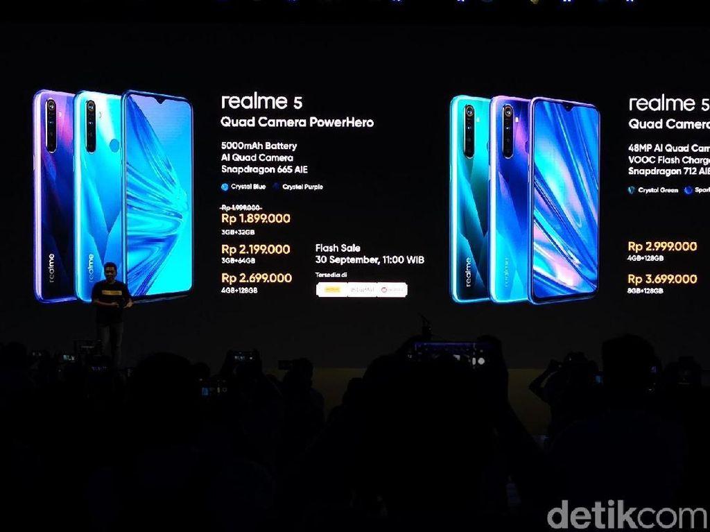Berapa Harga Realme 5 dan Realme 5 Pro?