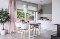 Dapur minimalis dengan ruang kecil.