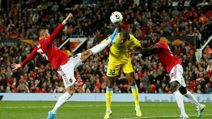 Manchester United menang 1-0 atas Astana. (Foto: Andrew Yates/Reuters)