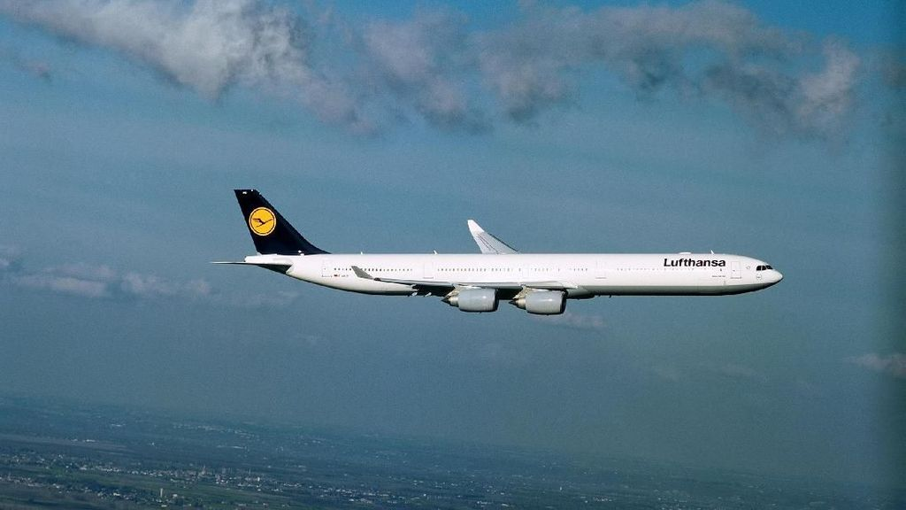 Potret Pesawat Airbus A340-600 Jadi Suvenir