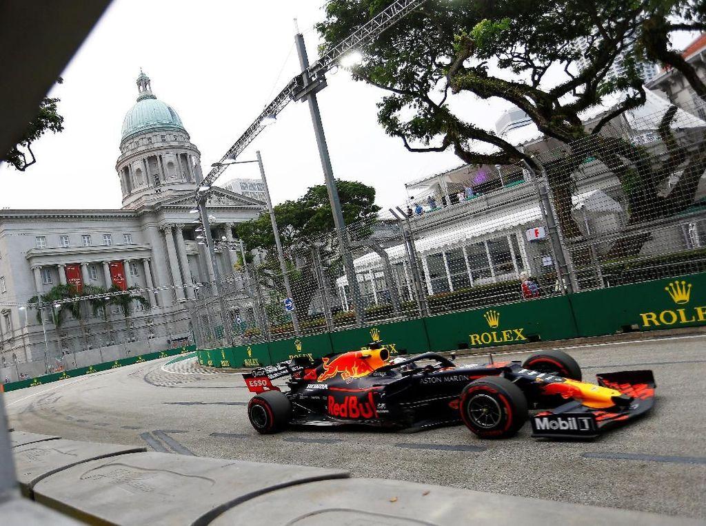 Free Practice I GP Singapura: Verstappen Tercepat, Bottas dan Leclerc Bermasalah