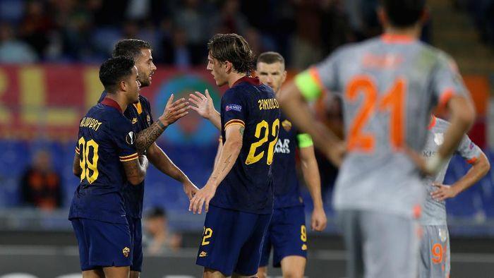 AS Roma menang 4-0 atas Istanbul Basaksehir. (Foto: Paolo Bruno/Getty Images)
