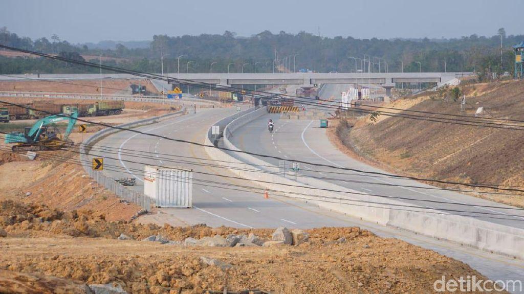 Penampakan Jalan Tol Pertama di Calon Ibu Kota RI