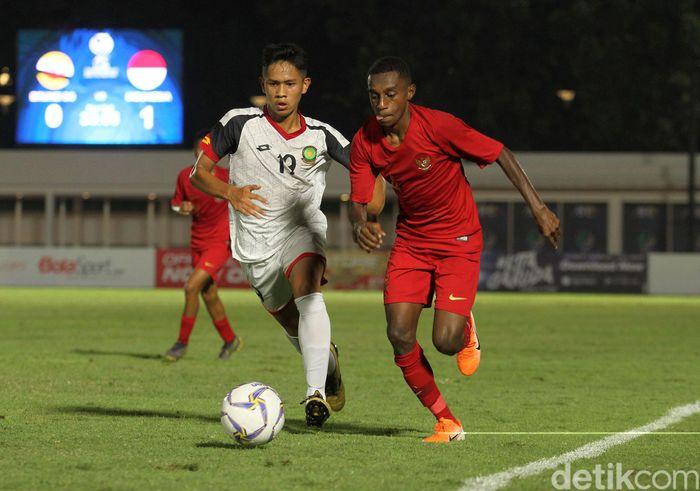 Pertandingan Indonesia vs Brunei Darussalam digelar di Stadion Madya, Senayan, Jumat (20/9/2019)