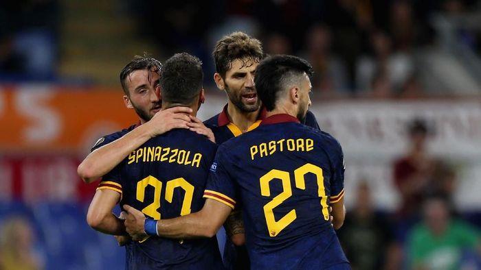 AS Roma menang telak 4-0 atas Istanbul Basaksehir. (Foto: Paolo Bruno/Getty Images)