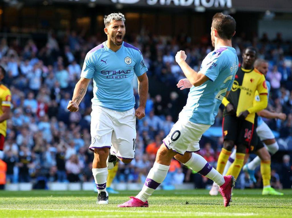 Susunan Pemain Everton Vs Man City: Aguero dan Duo Silva Dicadangkan