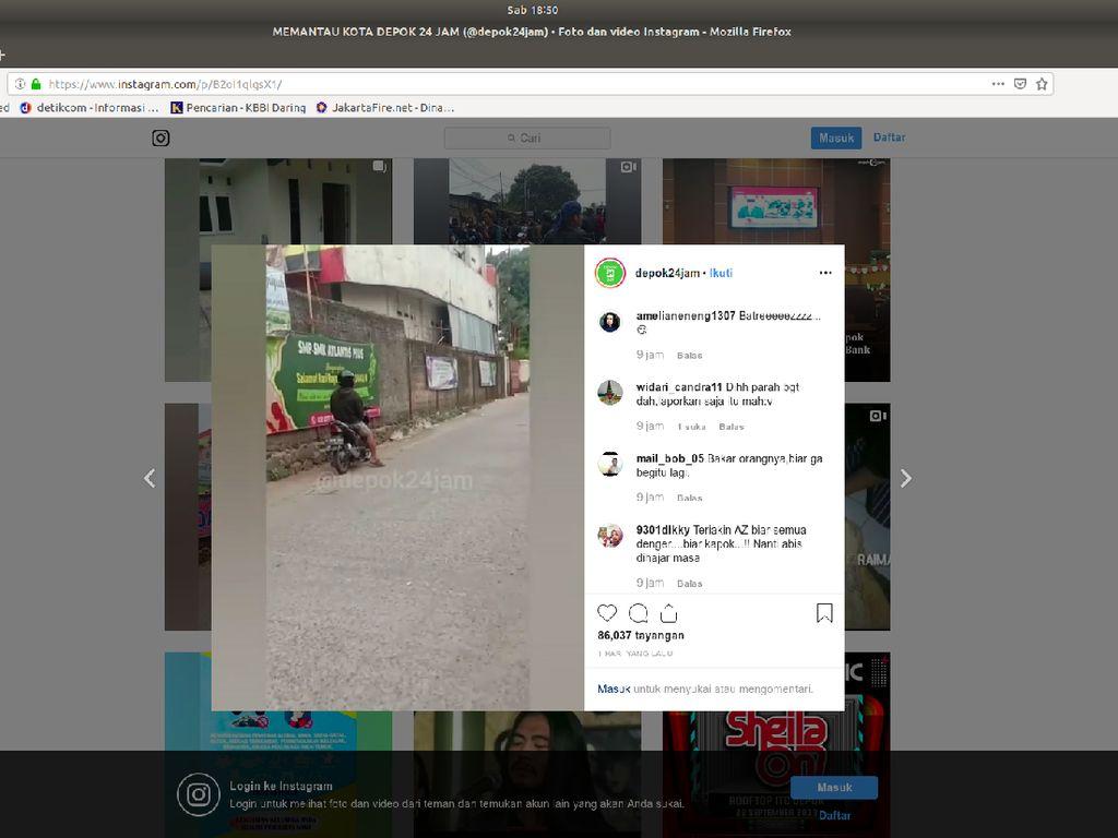 Pria Pamer Kemaluan di Depan SMA di Depok Diburu Polisi, CCTV Dicek