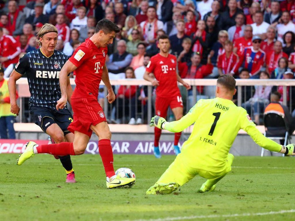 Lewandowski Dua Gol, Bayern Munich Tundukkan Cologne 4-0
