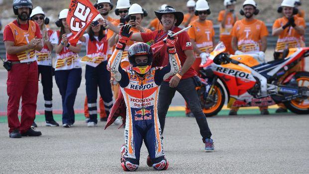 Marc Marquez bisa memastikan gelar juara di MotoGP Thailand 2019.