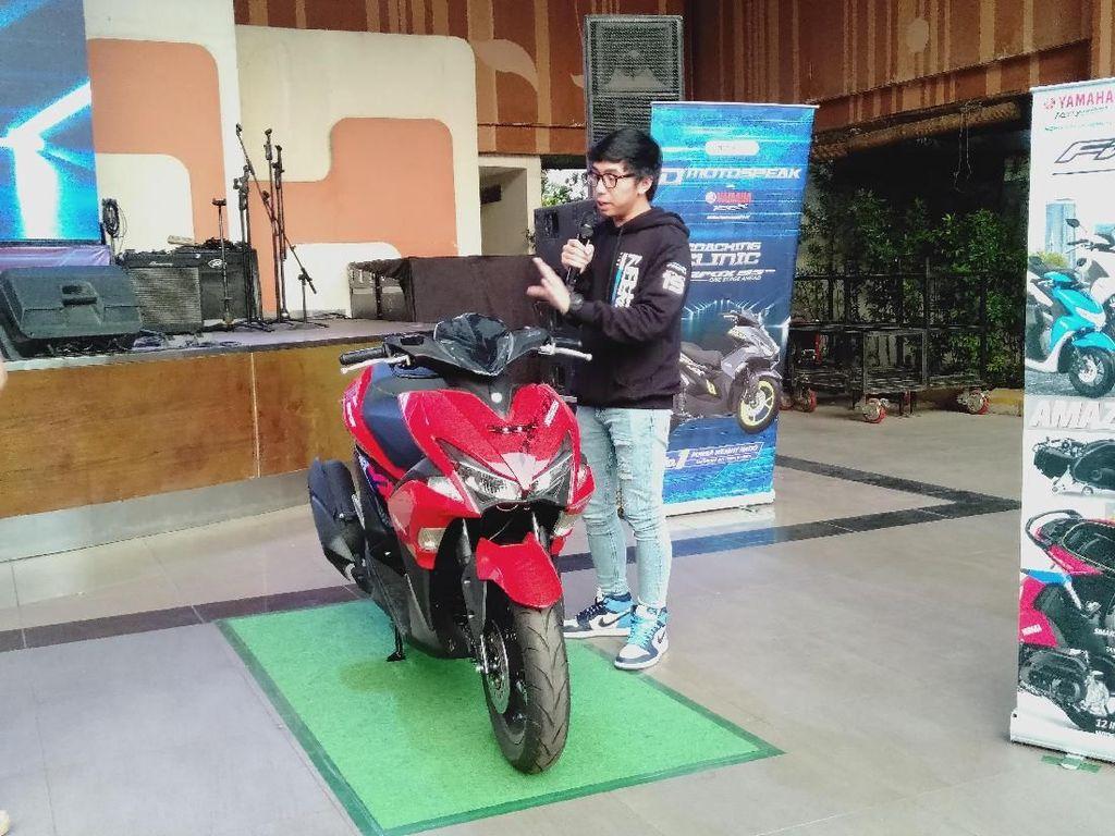 Moto Vlogger Harald Arkan Jadikan Aerox Motor Tempur Harian
