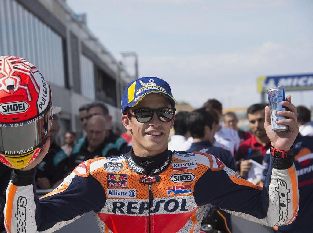 Di Ambang Gelar Juara Dunia di Thailand, Marquez Takkan Main Aman