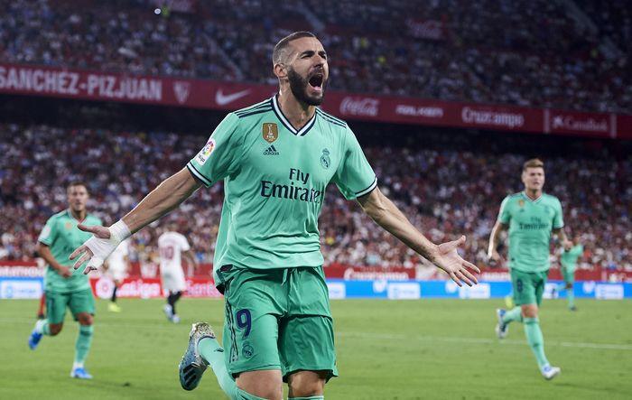 Real Madrid menaklukkan Sevilla 1-0 di pekan kelima Liga Spanyol 2019/2020. Istimewa/Aitor Alcalde/Getty Images.