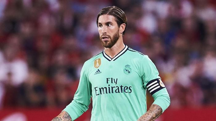 Kapten Real Madrid Sergio Ramos. (Foto: Aitor Alcalde/Getty Images)