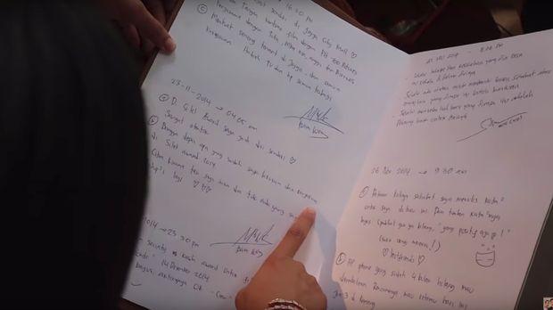 Catatan diary Baim Wong