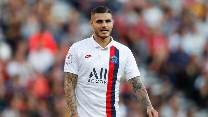 Soccer Football - Ligue 1 - Paris St Germain v RC Strasbourg - Parc des Princes, Paris, France - September 14, 2019  Paris St Germains Mauro Icardi during the match   REUTERS/Gonzalo Fuentes