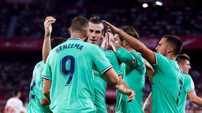 Real Madrid menduduki peringkat kedua klasemen Liga Spanyol 2019/2020. (Foto: Aitor Alcalde/Getty Images)