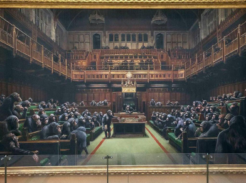 Wow! Lukisan Banksy Akan Dilelang Rp 35,1 M