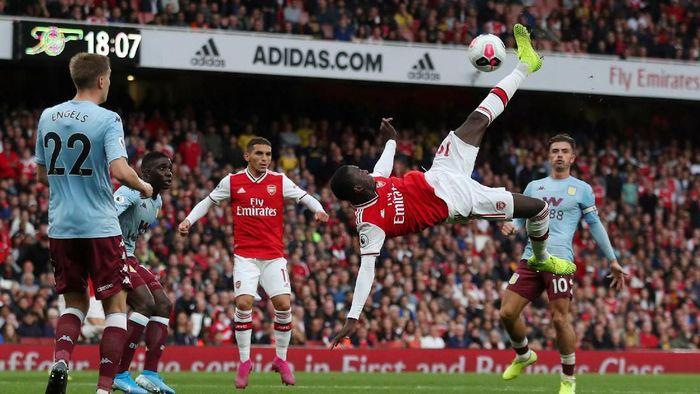 Arsenal berhasil mengalahkan Aston Villa 3-2 meski sempat tertingga dua kali (Foto: REUTERS/Hannah McKay)