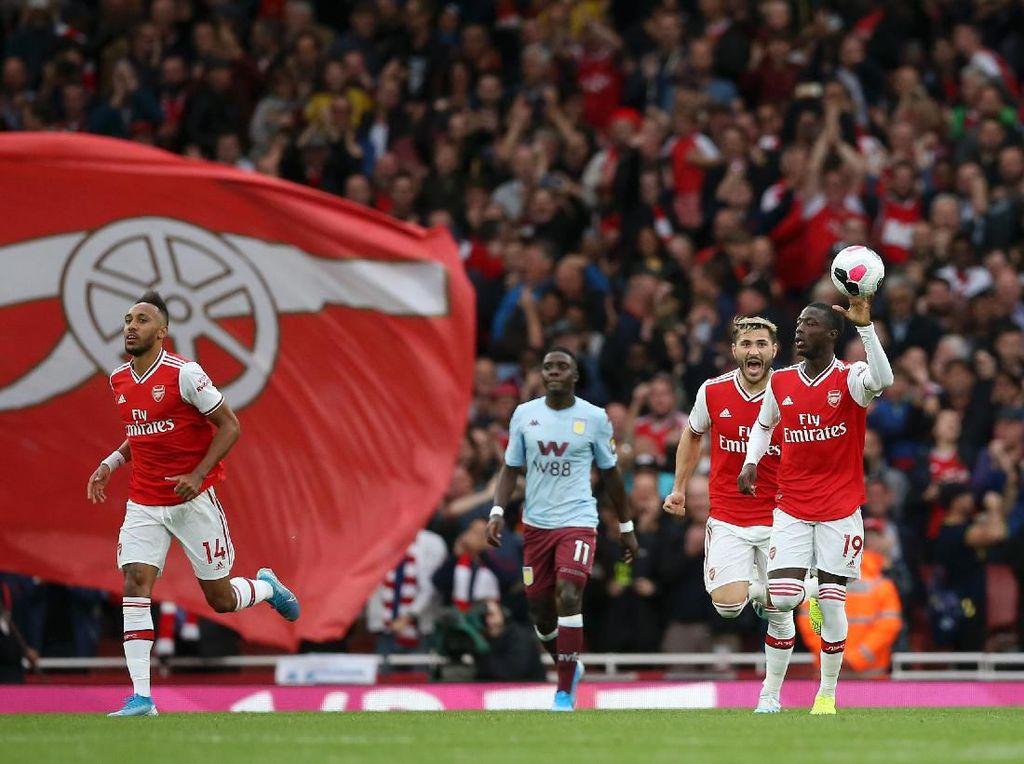 Aubameyang Kasih Penalti ke Pepe, Emery: Keren!