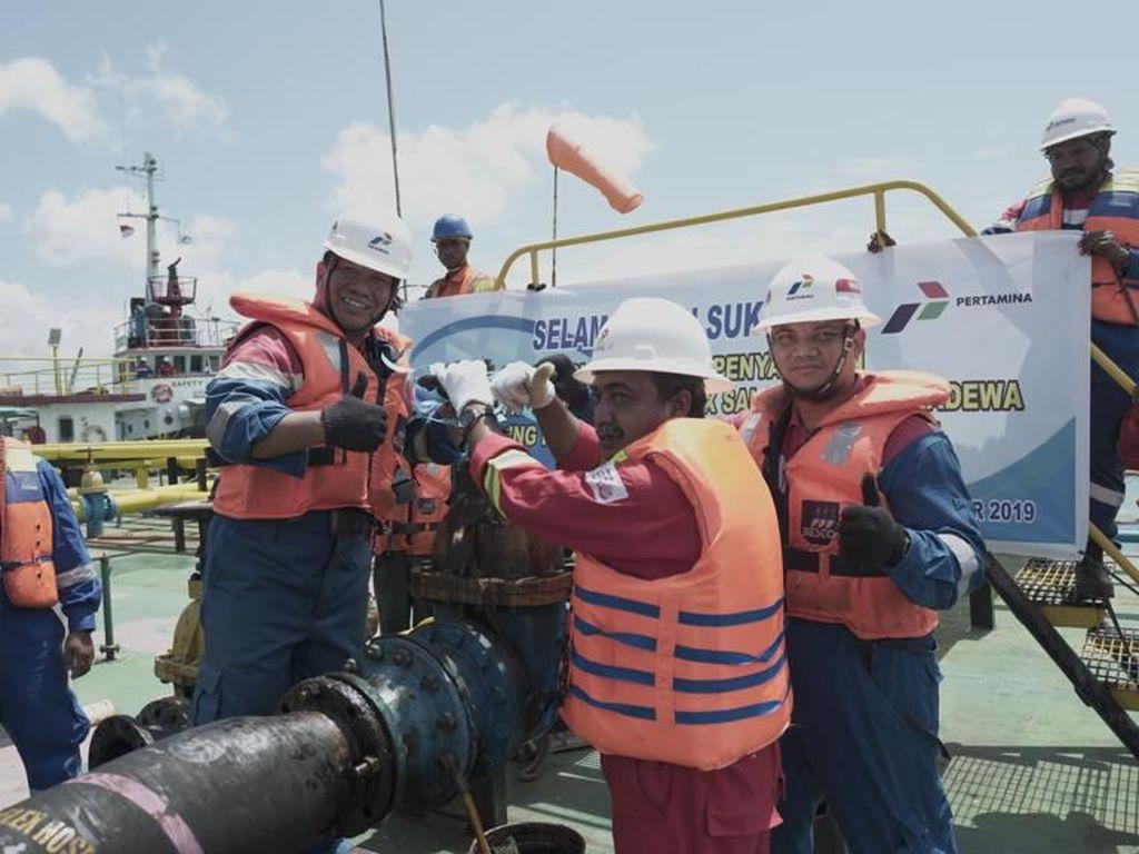 Pertamina Resmikan Lifting Perdana Minyak Salawati di Papua