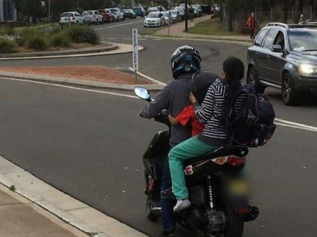 Bonceng Motor Tanpa Helm Dikenai Denda Belasan Juta Rupiah di Australia