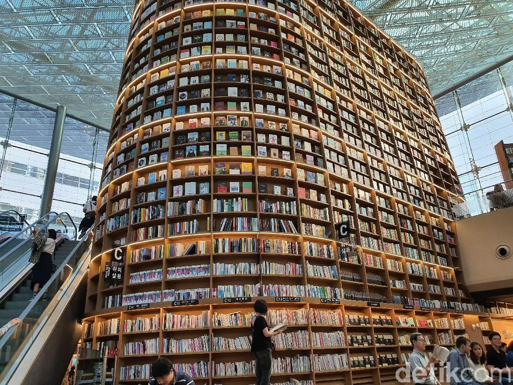 Potret Perpustakaan Megah dan Unik di Seoul