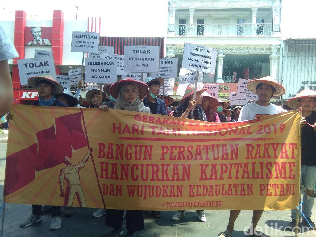 Demo Hari Tani, Massa Geruduk Kantor DPRD DIY