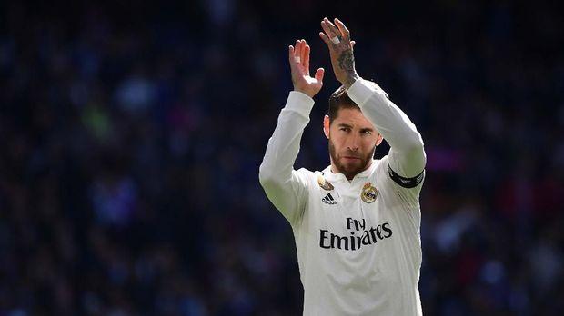 Sergio Ramos Amat Bahagia Tampil Terbanyak di Laga El Clasico